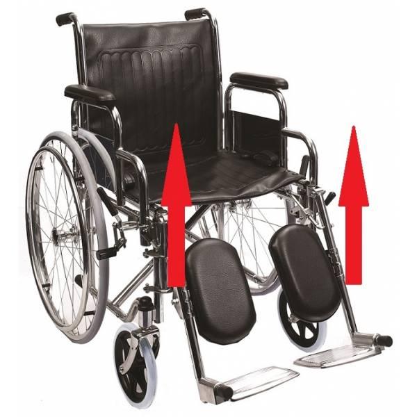 Fotoliu rulant cu suport reglabil pentru picioare