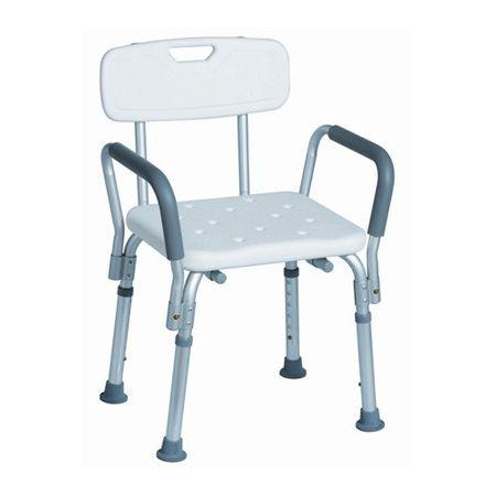 Scaun metalic cu șezut plastic pentru cadă